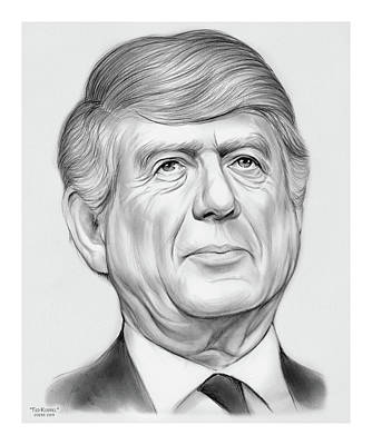 Andy Fisher Test Collection - Ted Koppel by Greg Joens