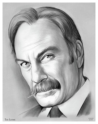 Drawing - Ted Levine by Greg Joens