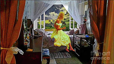 Digital Art - Teddy Bear Bedroom by Kathy Kelly
