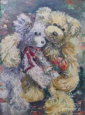 Painting - Teddy Bear Honeymooon by Ryn Shell