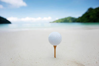 Photograph - Teeing Off On The Beach by Woraput