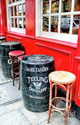 Photograph - Teeling Barrel At The Dame Tavern Dublin by John Rizzuto