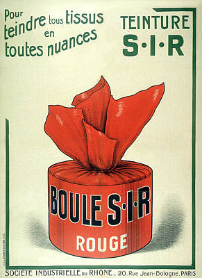 Painting - Teinture Rouge Vintage French Advertising by Vintage French Advertising