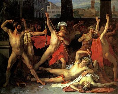 Just Desserts - Telemachus killing the Suitors by Leon Louis Vincent Paliere
