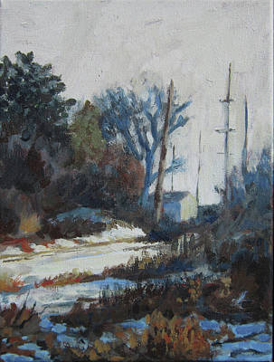 Painting - Telephone Poles In Celery Flats by Anna Barnhart
