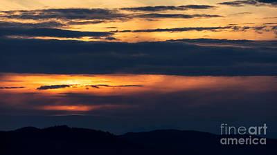 Photograph - Telephoto Sunset by Alma Danison