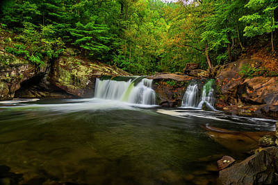 Photograph - Tellico River Baby Falls by Andy Crawford