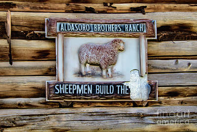 Firefighter Patents Royalty Free Images - Telluride Ranch Sign Royalty-Free Image by Norma Brandsberg