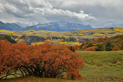Photograph - Telluride Skyline Seen From Last Dollar Road In Fall by Ray Mathis