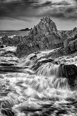 Photograph - Tempest On Bailey Island In Black And White by Rick Berk