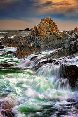 Photograph - Tempest On Bailey Island by Rick Berk