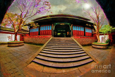 Photograph - Temple At Dujiangyan Irrigation System by Blake Richards