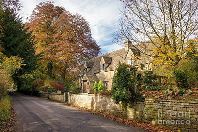 Photograph - Temple Guiting Cottage In The Cotswolds by Tim Gainey