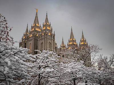 Photograph - Temple In The Snow by Boyce Fitzgerald