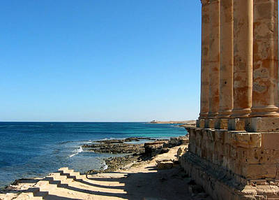 Photograph - Temple Of Isis, Sabratha, Libya by Joe & Clair Carnegie / Libyan Soup