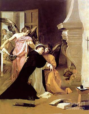 Photograph - Temptation Of Saint Thomas Aquinas by Velazquez