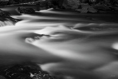 Photograph - Ten Mile River Iv Hunts Mills Bw by David Gordon