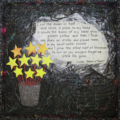 Tapestry - Textile - Ten Stars On Sticks by Pam Geisel