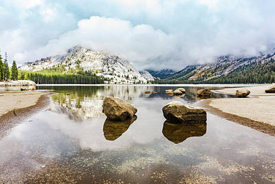 Photograph - Tenaya Lake With Rocks by Silvia Marcoschamer