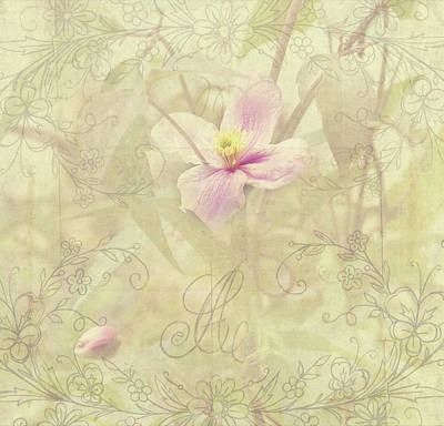 Photograph - Tender Flower From Secret Garden. Shabby Chic by Jenny Rainbow