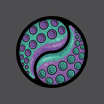 Royalty-Free and Rights-Managed Images - Tentacle Yin Yang by John Schwegel