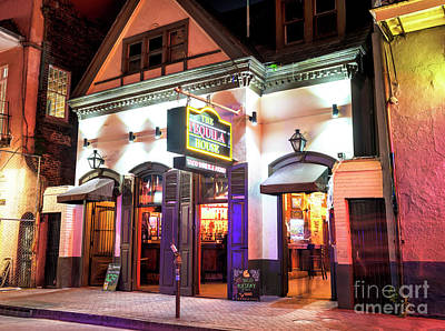 Photograph - Tequila House New Orleans At Night by John Rizzuto