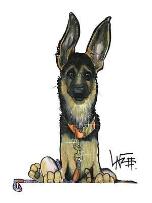Drawing - Terlecki 4817 by John LaFree