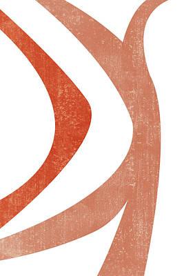 Mixed Media Royalty Free Images - Terracotta Art Print 5 - Terracotta Abstract - Modern, Minimal, Contemporary Print - Burnt Orange Royalty-Free Image by Studio Grafiikka