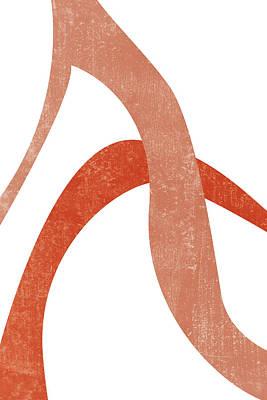 Mixed Media Royalty Free Images - Terracotta Art Print 6 - Terracotta Abstract - Modern, Minimal, Contemporary Print - Burnt Orange Royalty-Free Image by Studio Grafiikka