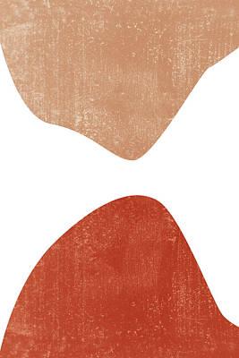 Mixed Media Royalty Free Images - Terracotta Art Print 7 - Terracotta Abstract - Modern, Minimal, Contemporary Print - Burnt Orange Royalty-Free Image by Studio Grafiikka