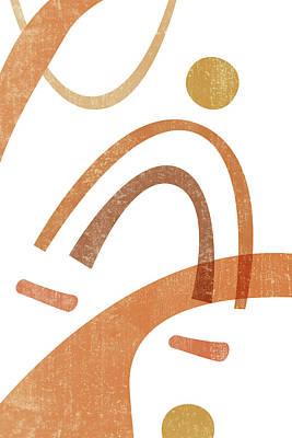 Mixed Media Royalty Free Images - Terracotta Art Print 8 - Terracotta Abstract - Modern, Minimal, Contemporary Print - Abstract Shapes Royalty-Free Image by Studio Grafiikka