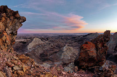 Photograph - Terry Badlands Sunset View by Leland D Howard