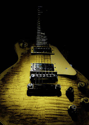 Digital Art - Honest Play Wear Tour Worn Relic Guitar by Guitar Wacky