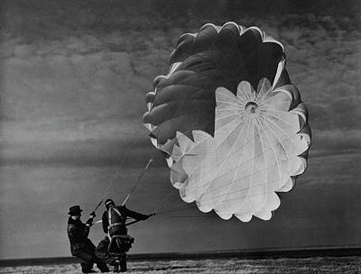 Photograph - Test Parachutist For Irving Air Chute Co by Margaret Bourke-white