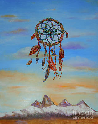 Recently Sold - Surrealism Royalty Free Images - Teton Dreamcatcher Royalty-Free Image by Shelley Myers