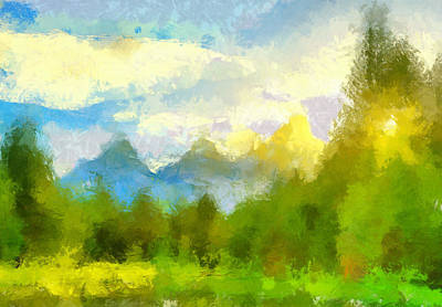 Painting - Teton Impressions by Dan Sproul