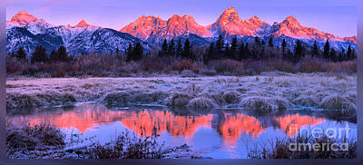Photograph - Teton Panorama T-shirt by Adam Jewell