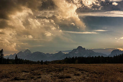 Photograph - Teton Sundown by Linda Shannon Morgan