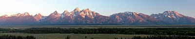 Photograph - Tetons Range Sunrise Panorama 8201106 by Rick Veldman