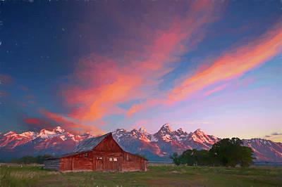 Digital Art - Tetons Sunrise Vi by Jon Glaser