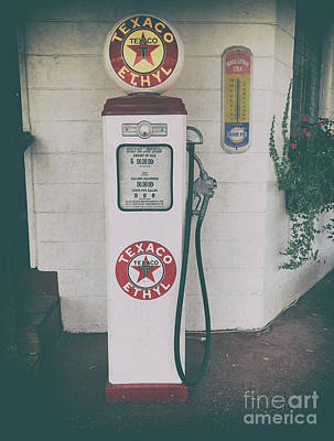 Photograph - Texaco - Ethyl Gas Pump by Dale Powell