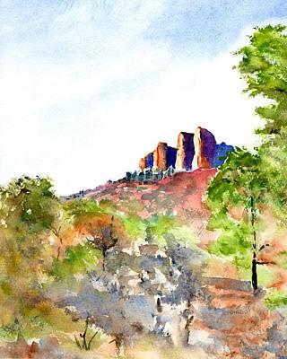 Painting - Texas Big Bend Casa Grande Peak by Carlin Blahnik CarlinArtWatercolor