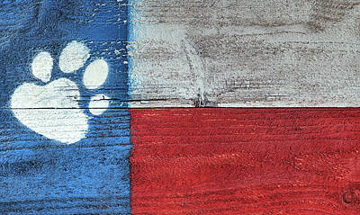 Painting - Texas Dog Flag by JC Findley