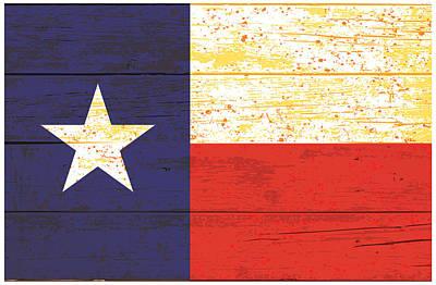 Digital Art - Texas Fence Flag by Gary Grayson