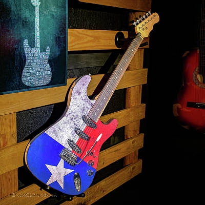 Photograph - Texas Guitar Art by Erich Grant