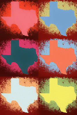 Mixed Media - Texas Pop Art Panels by Dan Sproul