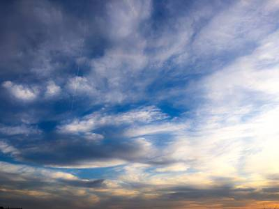 Photograph - In The Sky At Sunset by Krysten Brown