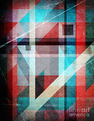 Digital Art - Textured Geometric Colors by Phil Perkins