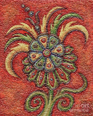 Painting - Textured Tapestry 13 by Amy E Fraser