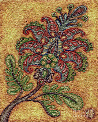 Painting - Textured Tapestry 4 by Amy E Fraser